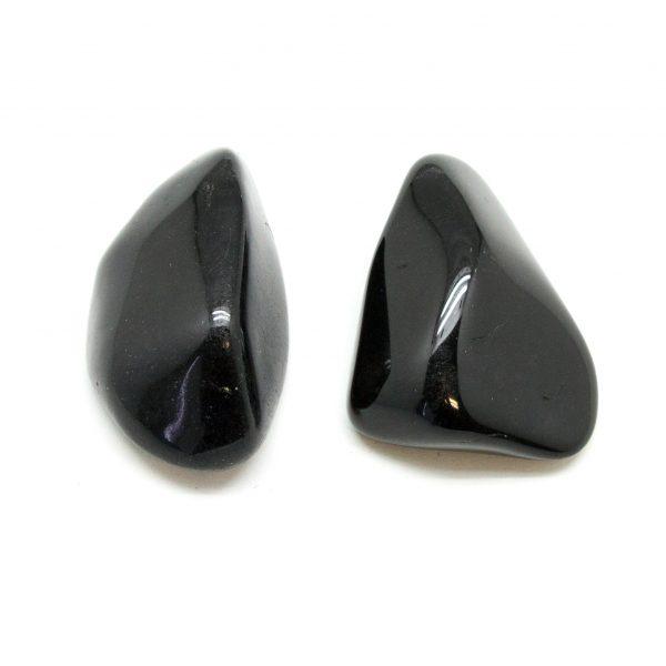 Black Tourmaline Aura Stone Pair (Small)-0