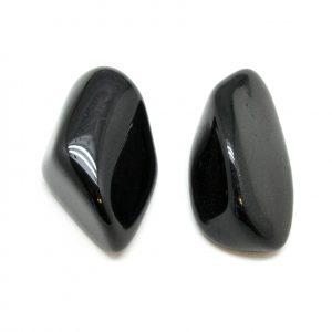 Black Tourmaline Aura Stone Pair (Small)-182625