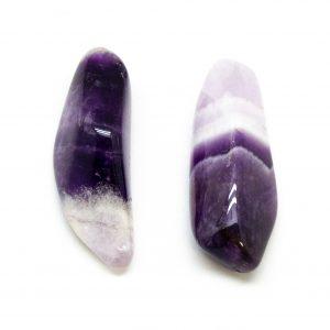 Amethyst Dogtooth Aura Stone Pair (Small)-0