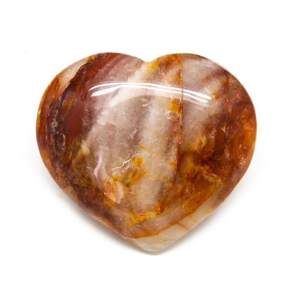Fire Quartz Heart (Large)-0