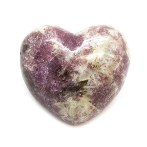 Lepidolite Heart (Medium)-185710
