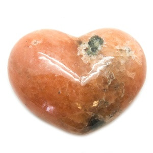 Orange Calcite Heart-0