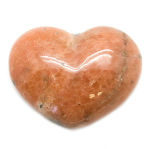 Orange Calcite Heart-187167