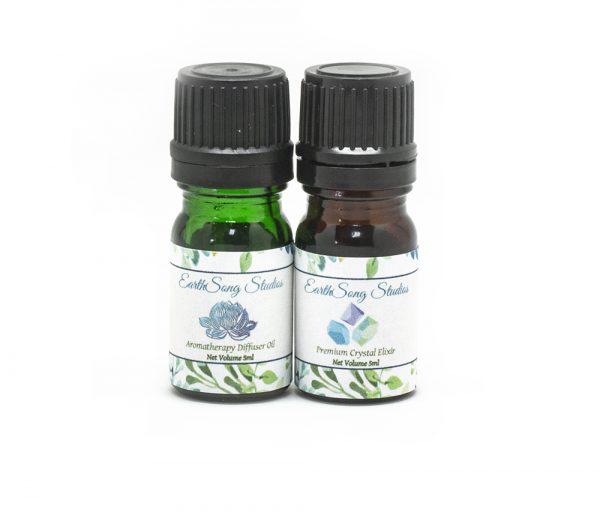 Third Eye Chakra Crystal Aromatherapy Diffuser Set-0