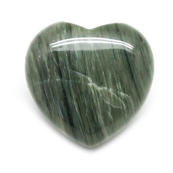 Green Hair Jasper Heart-0