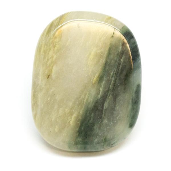 Green Hair Jasper Flat Palm Stone-188390