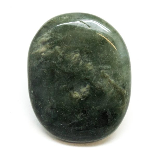 Green Hair Jasper Flat Palm Stone-188391