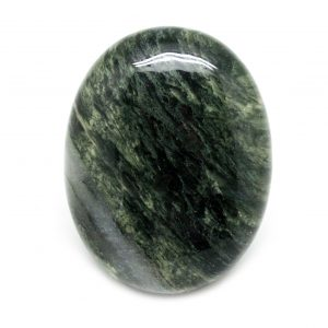 Green Hair Jasper Palm Stone-0