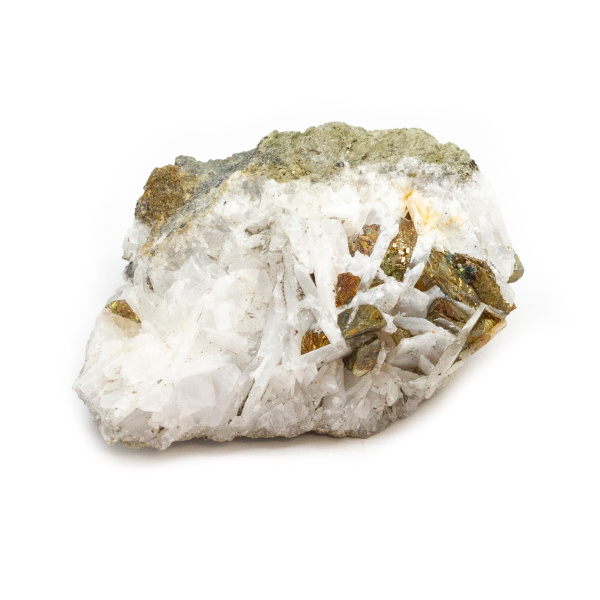 Barite with Chalcopyrite Cluster-189538