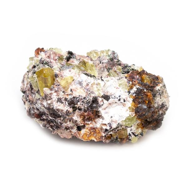 Golden Apatite on Matrix Cluster-189651