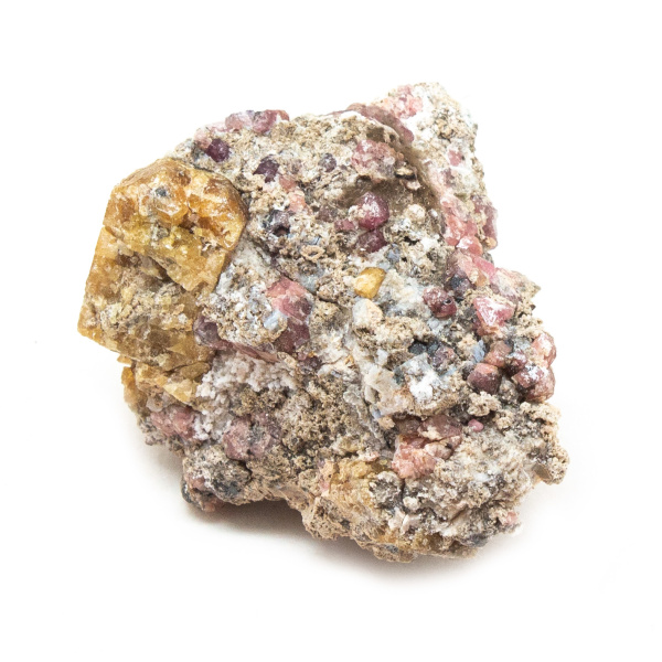 Rhodolite Garnet on Matrix Cluster-190426