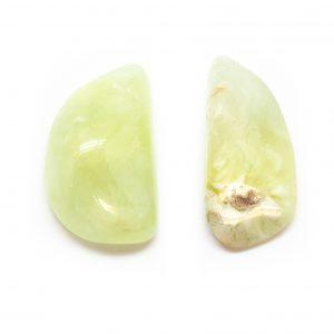 Prehnite Aura Stone Pair (Small)-0