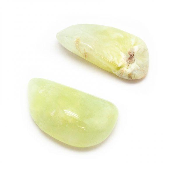 Prehnite Aura Stone Pair (Small)-191170
