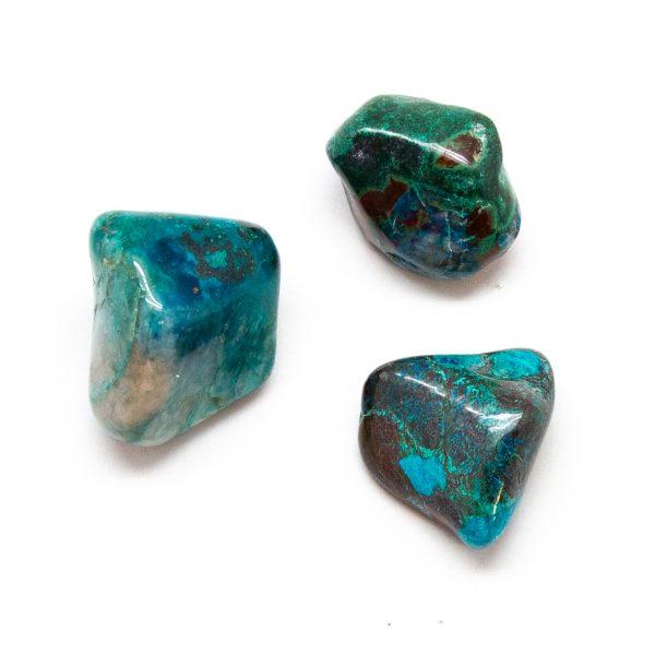 Chrysocolla Tumbled Stone Set (Extra Large)-0