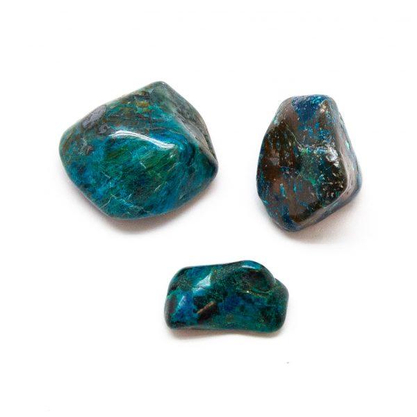 Chrysocolla Tumbled Stone Set (Extra Large)-191210