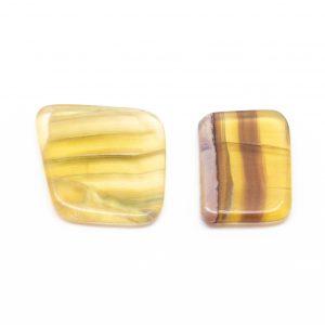 Yellow Fluorite Slice Pair (Small)-0