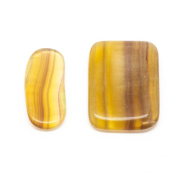 Yellow Fluorite Slice Pair (Medium)-0