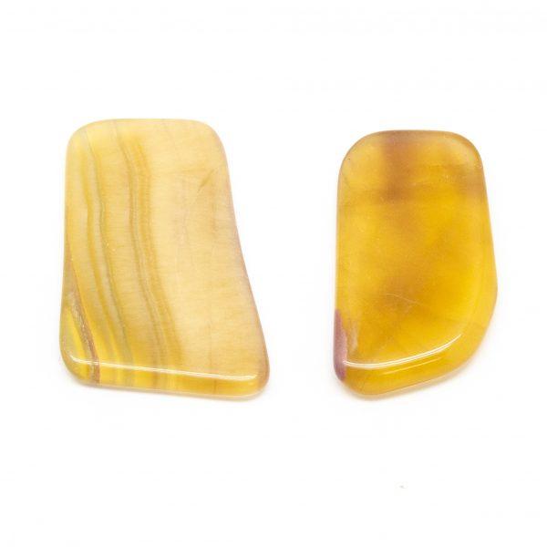 Yellow Fluorite Slice Pair (Medium)-191319