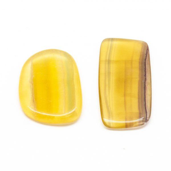 Yellow Fluorite Slice Pair (Medium)-191321