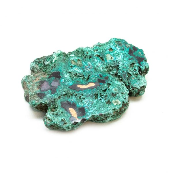 Polished Cuprite with Native Copper and Malachite Crystal-197614