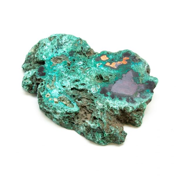 Polished Cuprite with Native Copper and Malachite Crystal-197615