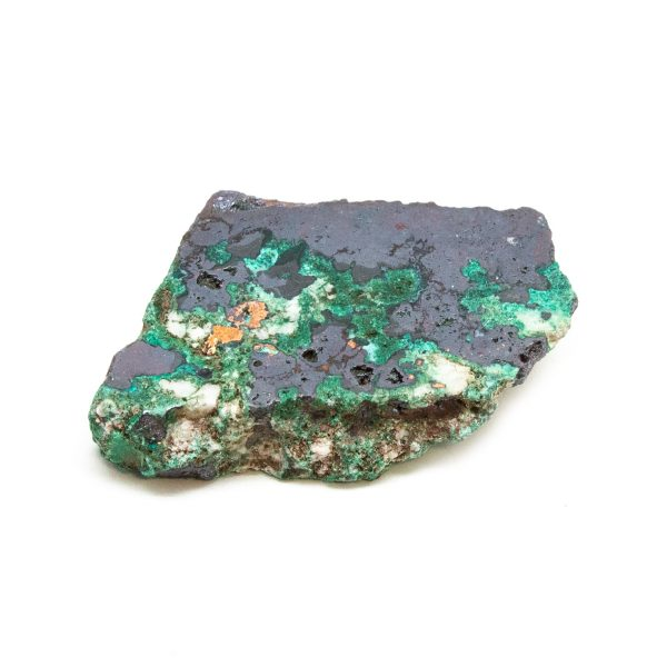 Polished Cuprite with Native Copper and Malachite Crystal-0