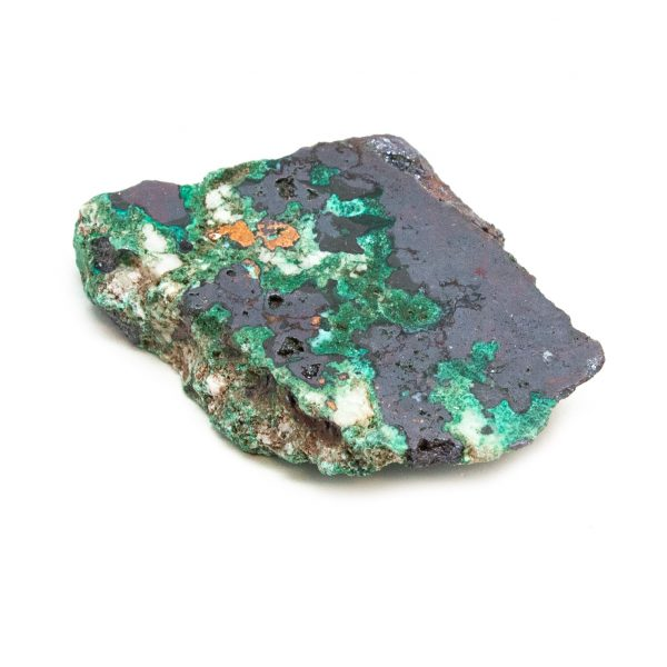 Polished Cuprite with Native Copper and Malachite Crystal-197620