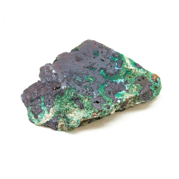 Polished Cuprite with Native Copper and Malachite Crystal-197621