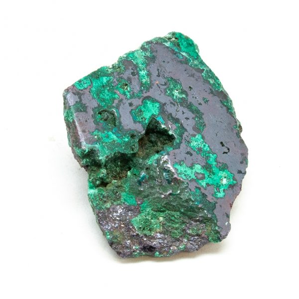 Polished Cuprite with Malachite Crystal-0