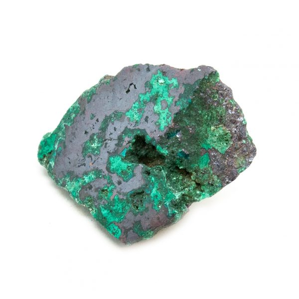 Polished Cuprite with Malachite Crystal-197669