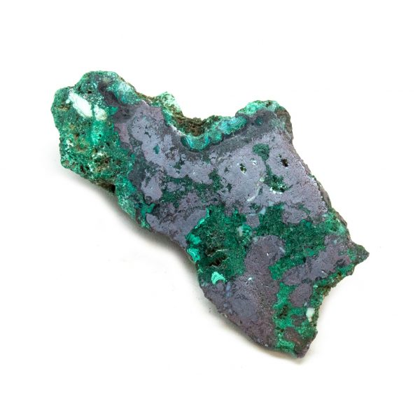 Polished Cuprite with Malachite Crystal-197675