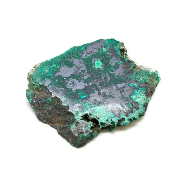 Polished Cuprite with Malachite Crystal-197677