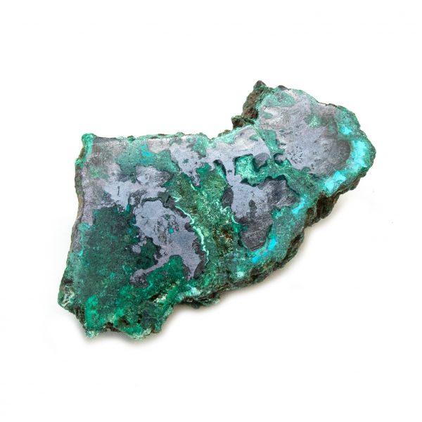 Polished Cuprite with Malachite Crystal-197681