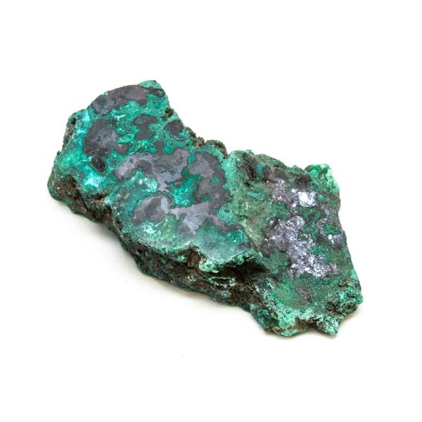 Polished Cuprite with Malachite Crystal-197679