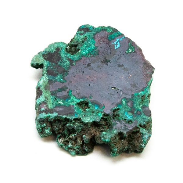 Polished Cuprite with Malachite Crystal-0