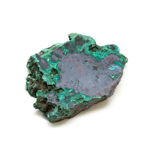 Polished Cuprite with Malachite Crystal-197683