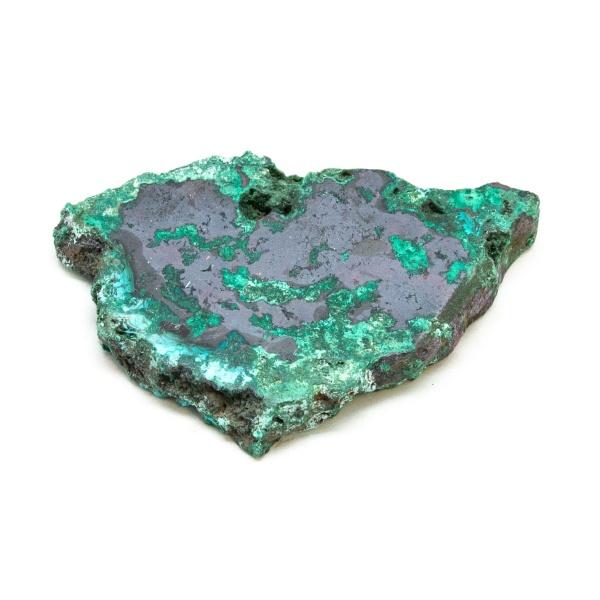 Polished Cuprite with Malachite Crystal-197686