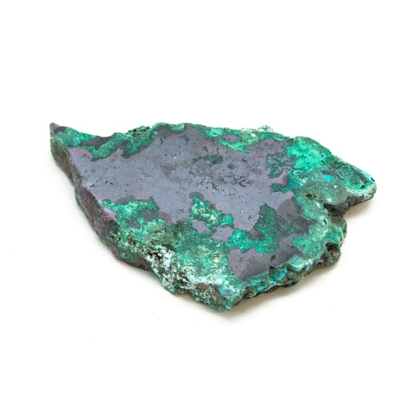 Polished Cuprite with Malachite Crystal-197685