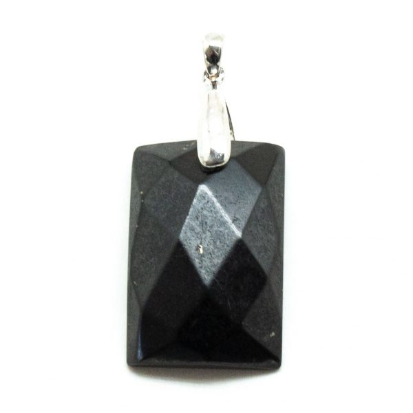 Shungite Faceted Pendant-0