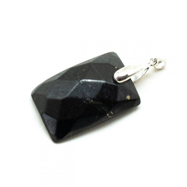 Shungite Faceted Pendant-198617