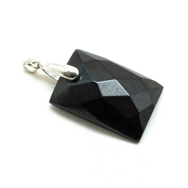 Shungite Faceted Pendant-198618