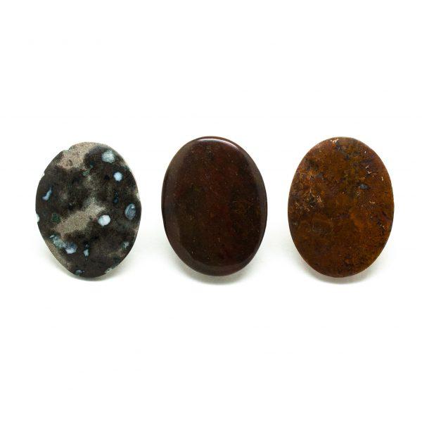 Various Jasper Pin Brooch Set-0