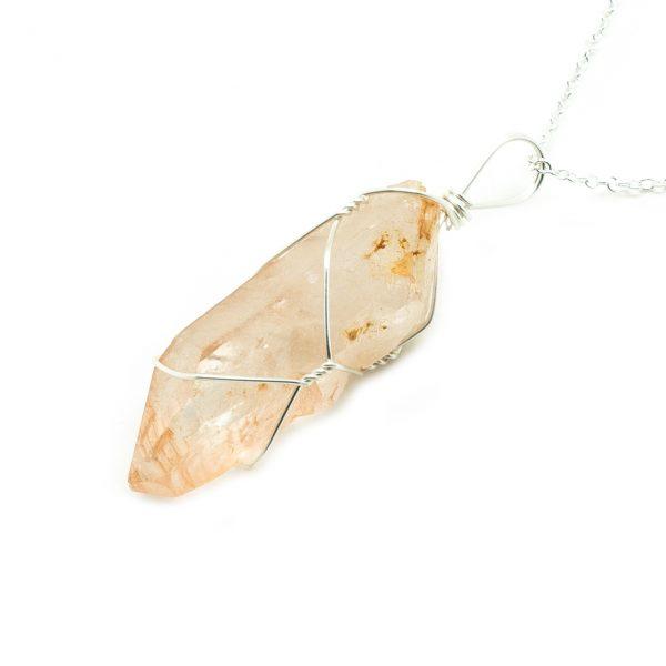 Golden Healer Lemurian Isis Crystal Pendant-198993