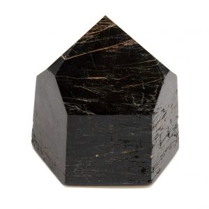 Polished Black Tourmaline with Hematite Generator-0