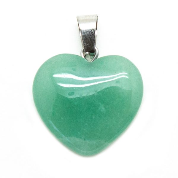 Green Aventurine Heart Pendant -0