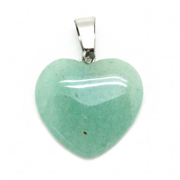 Green Aventurine Heart Pendant -200737