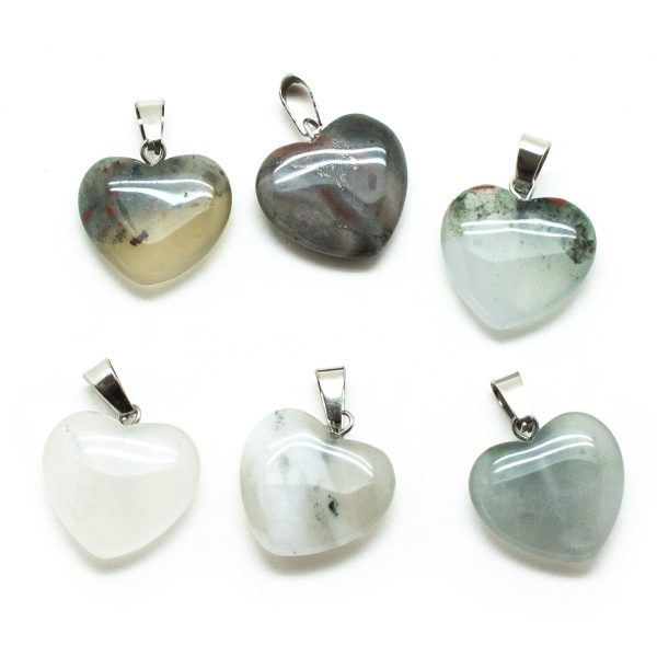 Crystal Heart Pendant Set-200749
