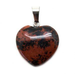 Mahogany Obsidian Heart Pendant-0
