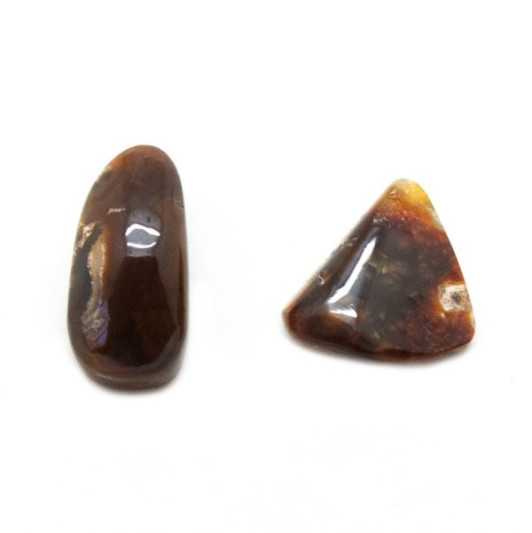 Polished Fire Agate Pair-0
