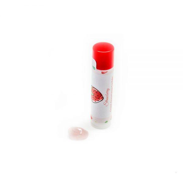 All-Natural Strawberry Lip Balm with Rose Quartz-0